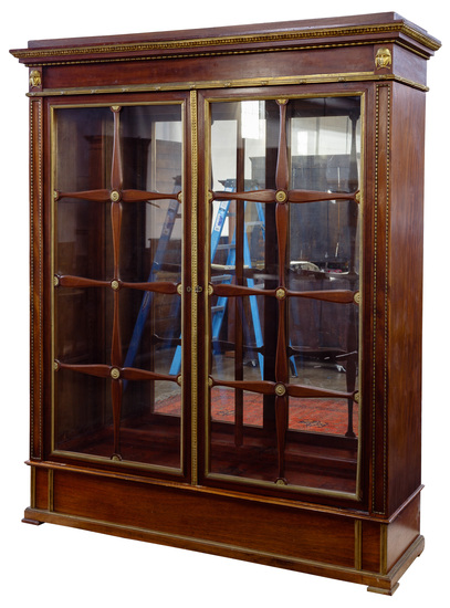 Wooden and Brass Display Cabinet