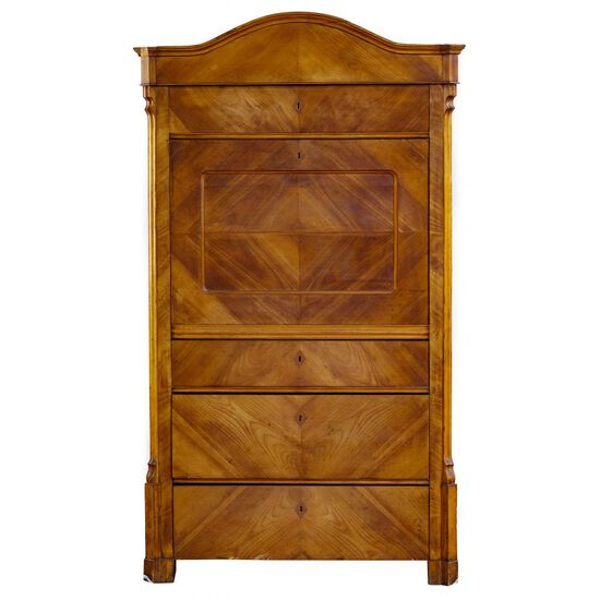 Biedermeier Style Walnut Drop Front Desk