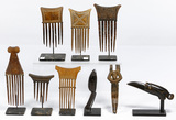 African Chokwe Hair Comb Assortment