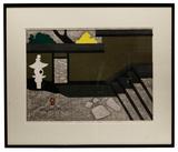 Kiyoshi Saito (Japanese, 1907-1997) 'Katsura Kyoto - I' Woodblock Print