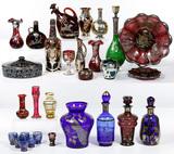 Sterling Silver Overlay Art and Venetian Glass Assortment