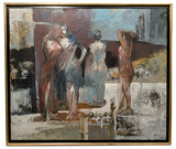 Sheikh Afzal (Bangladeshi, b.1960) Mixed Media on Canvas