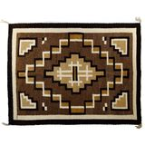 Native American Navajo 'Two Gray Hills' Rug by Grace Nez