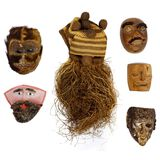 Central American, Mexican and African Mask Assortment