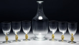 Murano Gold Fleck Wine Glass and Decanter Collection