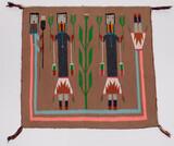 Native American Navajo 'Yei' Rug