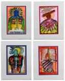 Ron Kowalke (American, b.1936) 'Spirit Guides' Watercolor Assortment