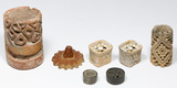 Pre-Columbian Ceramic Sellos and Ear Spool Assortment