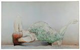Nils Obel (Danish / American, b.1937) 'Mermaid' Oil on Linen