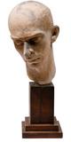 Cast Cement Portrait Head