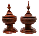 Burmese Lacquer Offering Vessels
