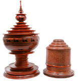 Burmese Lacquer Offering and Storage Vessels