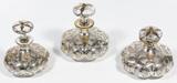Alvin Fine Silver Overlay Perfume Bottle Assortment