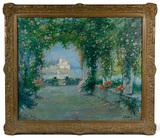 Luigi Paolillo (Italian, 1864-1934) 'A Trysting Place' Oil on Canvas