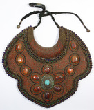 Tibetan Coral and Turquoise Bib Necklace