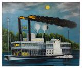 Unknown Artist (American, 20th Century) 'Natchez Steamboat' Oil on Board