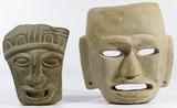 Pre-Columbian Style Stone Masks