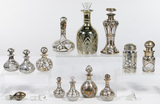 Sterling Silver Overlay on Clear Glass Perfume Bottle Assortment