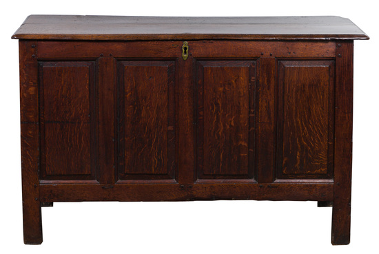 English Oak Paneled Blanket Chest