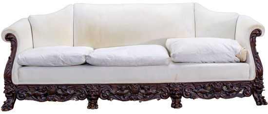 Gothic Revival Style Carved Sofa Frame