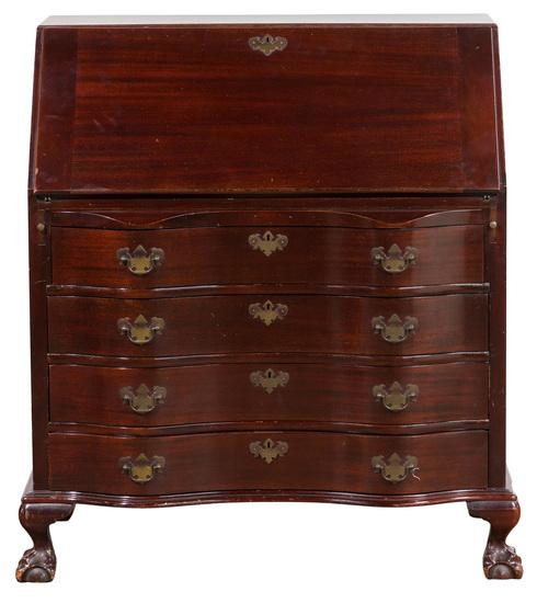 Maddox Colonial Reproductions Mahogany Slant Top Desk
