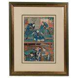 Utagawa Toyokuni III (Japanese, 1785-1864) 'Forty-Seven Samurai' Woodblock Print