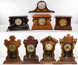 Wood Case Pendulum Mantel Clock Assortment