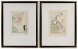 Salvador Dali (Spanish, 1904-1989) 'Divine Comedy' Wood Engravings