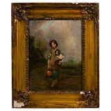 (After) Thomas Gainsborough (English, 1727-1788) 'The Cottage Girl' Oil on Canvas