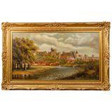 W.D. Thorne (European, 19th / 20th Century) 'Thames Near Windsor Castle' Oil on Canvas