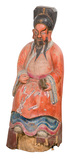 Chinese Ancestor Carved Wood Statue