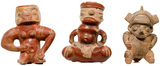 Pre-Columbian Style Costa Rican Pottery Figures