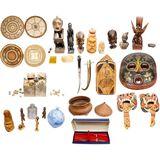 Multi-Cultural Decorative Object Assortment
