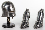 Knight Reproduction Helmet and Gauntlets