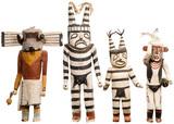 Native American Indian Kachina Carved Cottonwood Assortment