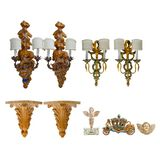Italian Wooden Object Assortment