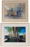 Elizabeth Ockwell (American, 20th Century) 'Early Morning, San Marco, Venice' Watercolor