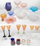 Strini and Fenton Iridescent Glass Assortment