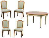 Kindel Dining Table and Upholstered Chairs