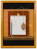 John Wickenberg (American, b.1944) 'Folk Art Still Life' Oil and Silverpoint on Masonite