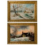 Unknown Artists (American, 20th Century) Oils on Board