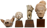 Thai Sawankhalok Pottery Figurine Assortment