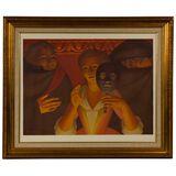 George Tooker (American, 1920-2011) 'Un Ballo in Maschera' Lithograph