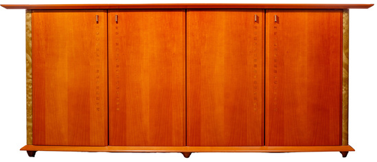 Italian Modernist Style Wood and Veneer Sideboard