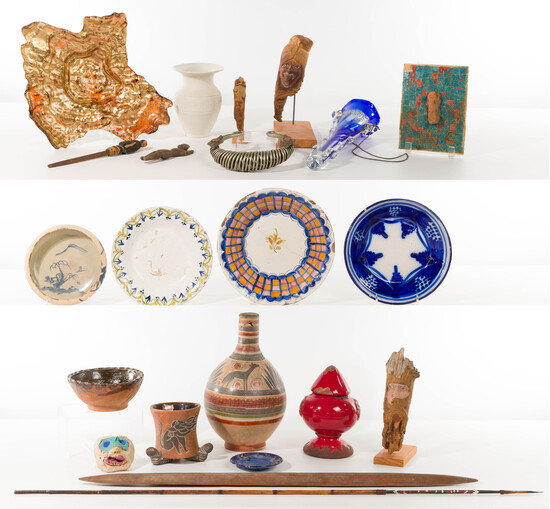 Multi-Cultural Decorative Object Assortment