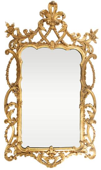 La Barge Rococo Style Wall Mirror
