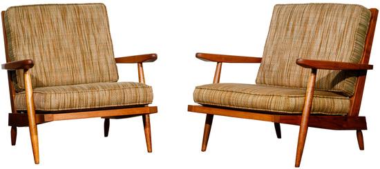 George Nakashima Cushion Chairs with Arms