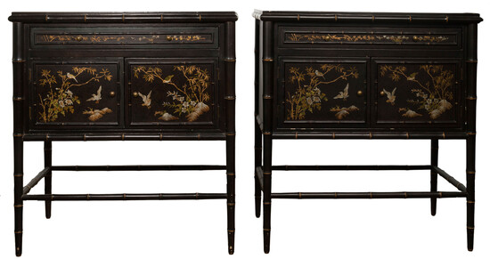 Chinese Glass Top Cabinets