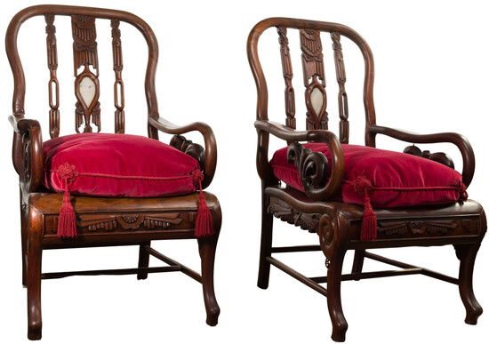 Chinese Rosewood Armchairs