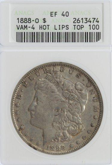 1888-O $1 Vam-4 XF-40 ANACS